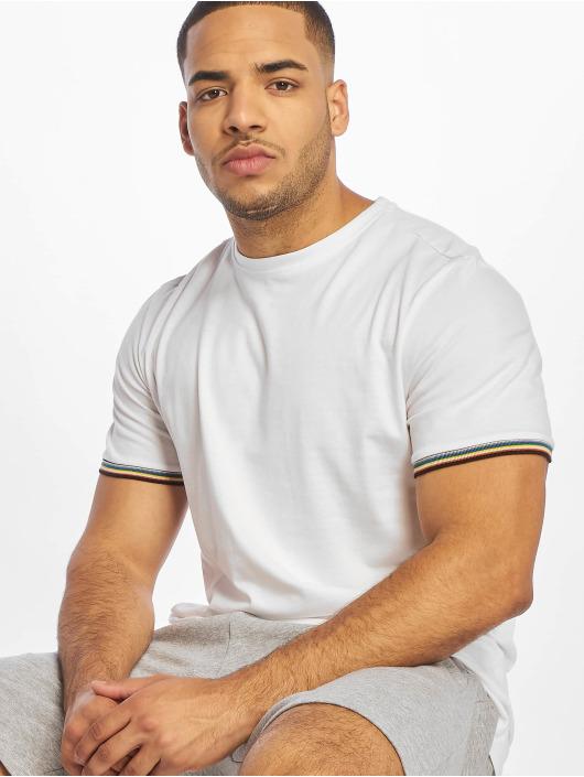 Urban Classics T-Shirt Rib Ringer blanc