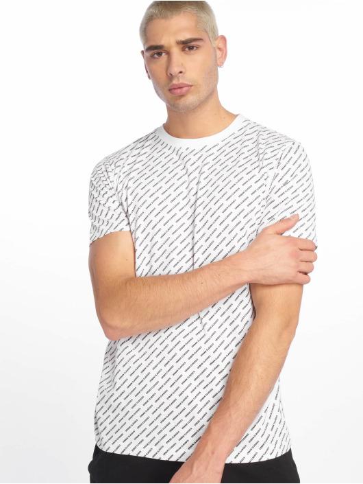 Urban Classics T-Shirt Allover Logo blanc