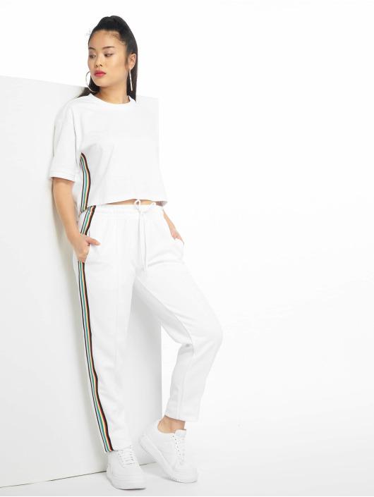Urban Classics T-Shirt Multicolor Side Taped blanc