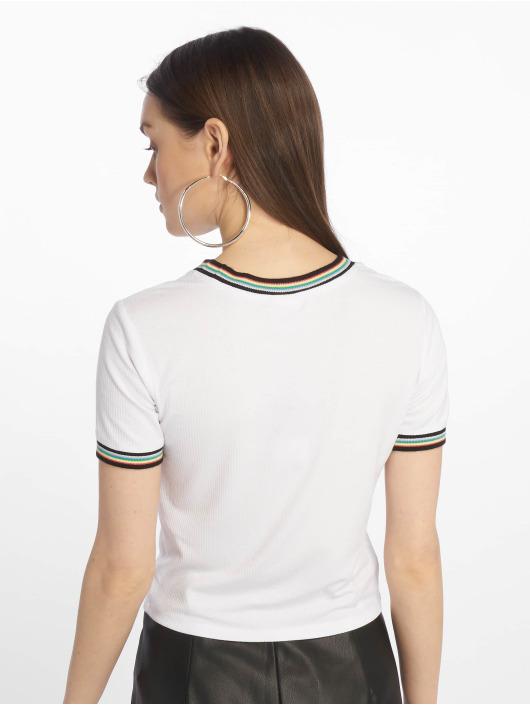 Urban Classics T-Shirt Short Multicolor Rib blanc