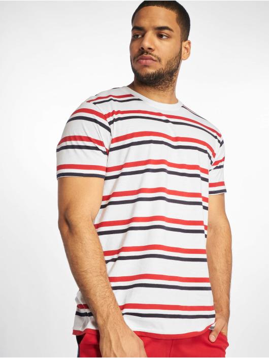 Urban Classics T-Shirt Yarn Dyed Skate Stripe blanc