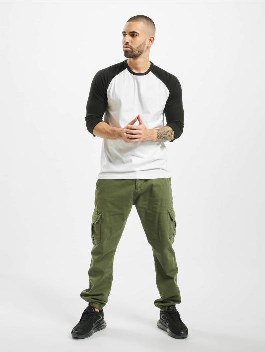 Urban Classics T-Shirt Contrast 3/4 Sleeve Raglan blanc
