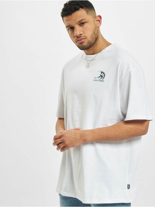 Urban Classics T-Shirt Big Wave blanc