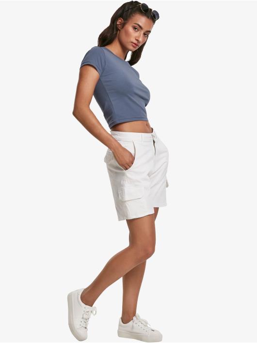 Urban Classics T-Shirt Stretch Jersey Cropped blau