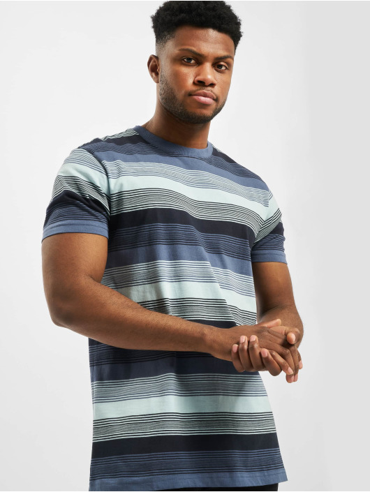Urban Classics T-Shirt Yarn Dyed Sunrise Stripe blau