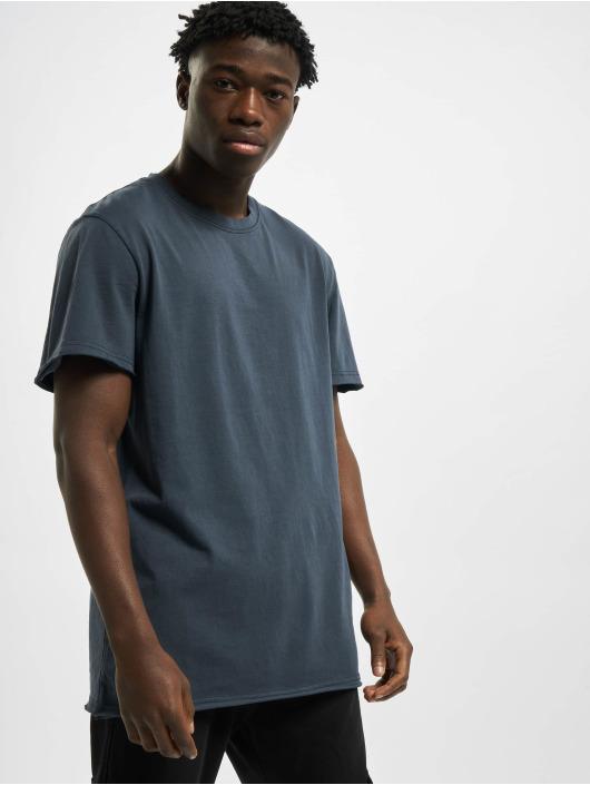 Urban Classics T-Shirt Open Edge Pigment Dyed Basic blau