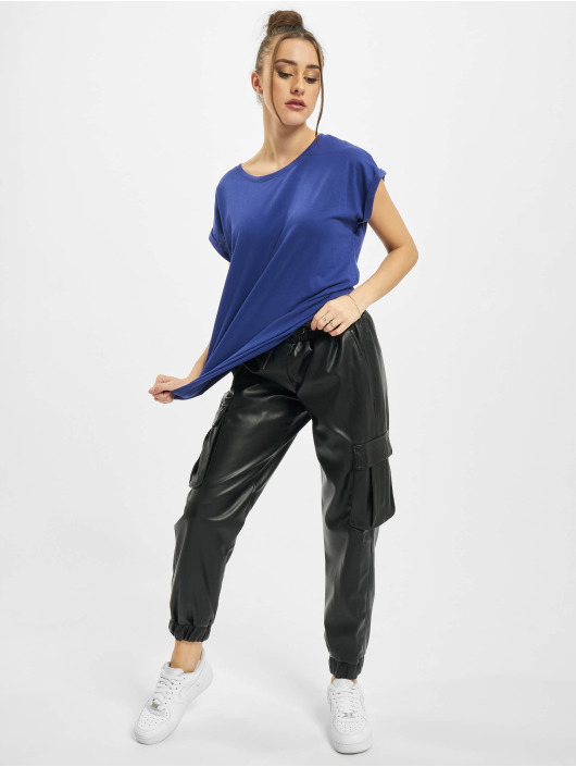 Urban Classics T-Shirt Ladies Extended Shoulder blau