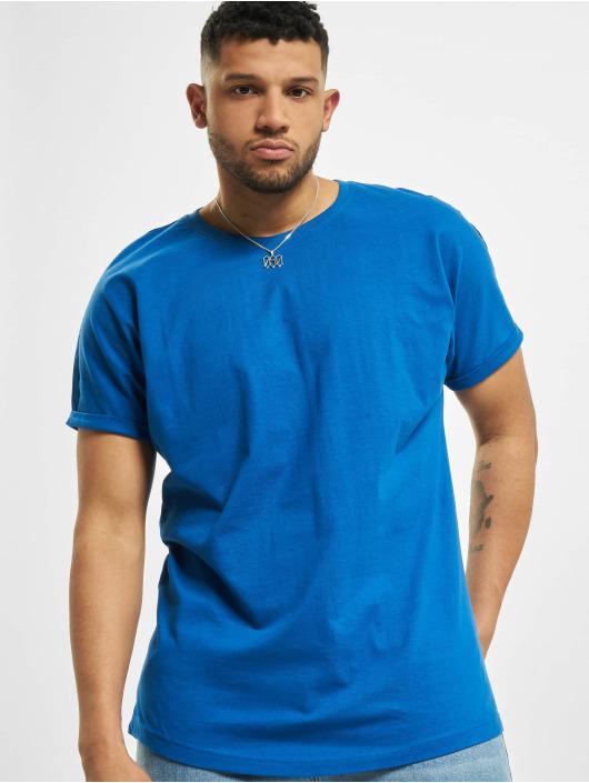 Urban Classics T-Shirt Long Shaped Turnup blau
