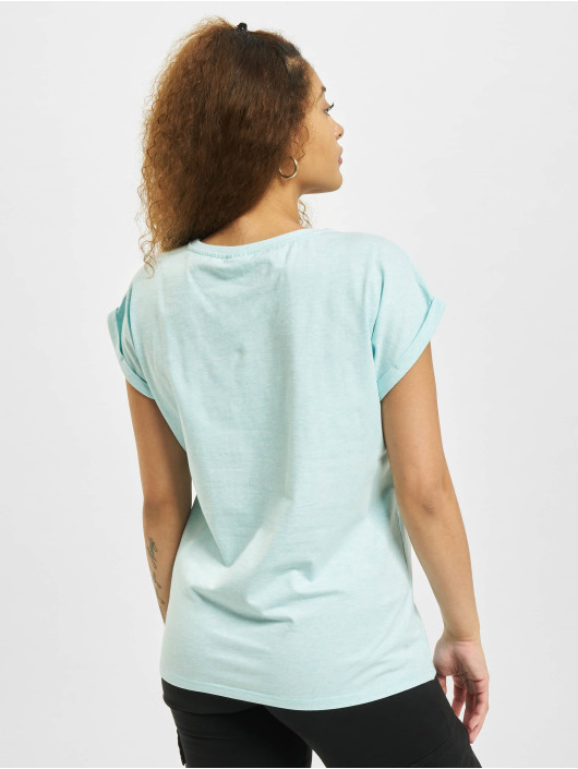 Urban Classics T-Shirt Color Melange Extended Shoulder blau