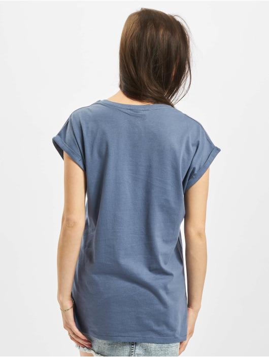 Urban Classics t-shirt Extended Shoulder blauw