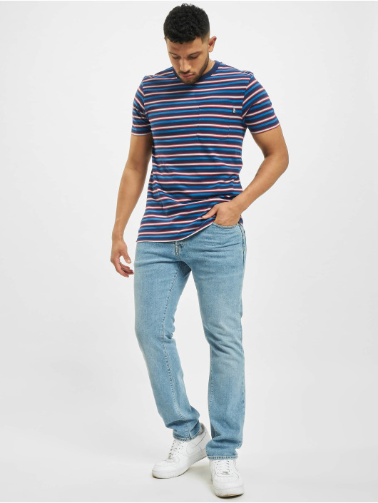 Urban Classics t-shirt Fast Stripe Pocket blauw