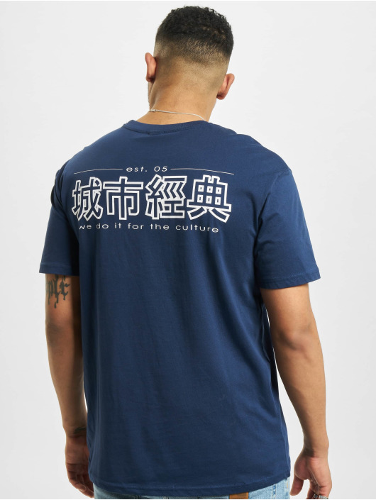 Urban Classics t-shirt Chinese Symbol blauw