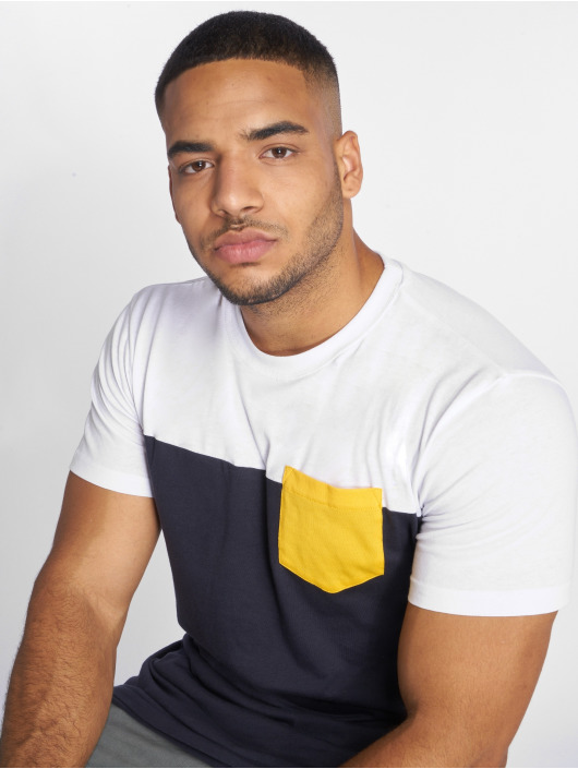 Urban Classics T-Shirt 3-Tone Pocket bleu