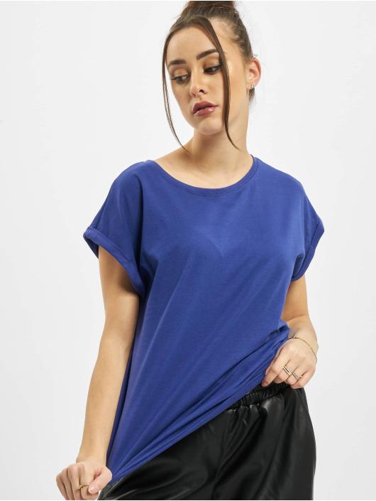 Urban Classics T-Shirt Ladies Extended Shoulder bleu