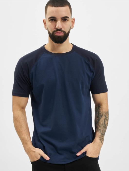 Urban Classics T-shirt Raglan Contrast blu