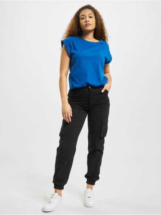 Urban Classics T-shirt Extended Shoulder blu