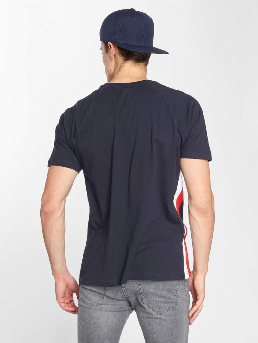 Urban Classics T-Shirt Side Stripe Raglan blue