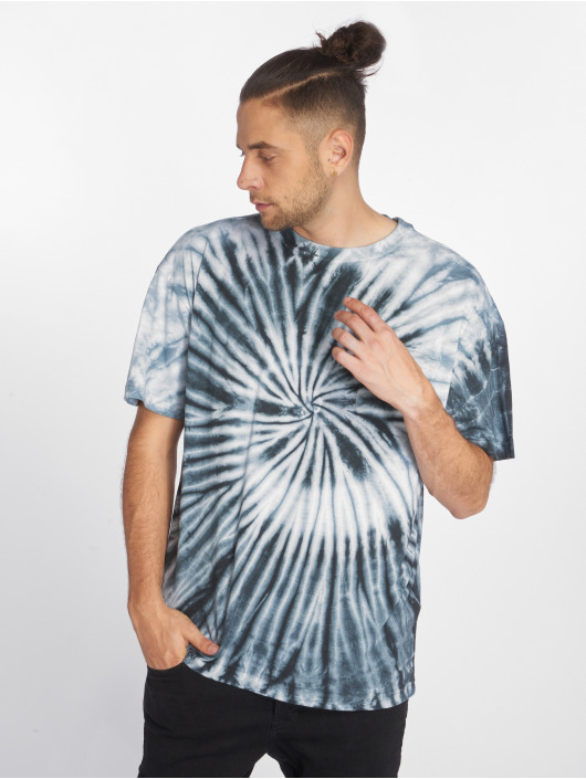 Urban Classics T-Shirt Spiral Tie Dye Pocket blue