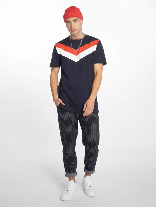 Urban Classics T-Shirt Arrow Panel blue