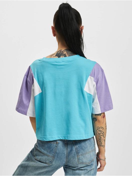 Urban Classics T-Shirt 3-Tone Short Oversize blue