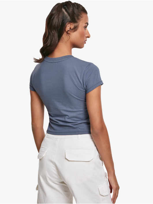 Urban Classics T-Shirt Stretch Jersey Cropped blue