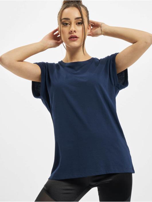 Urban Classics T-Shirt Ladies Extended Shoulder blue