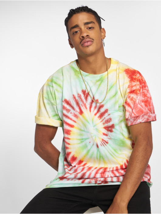 Urban Classics T-Shirt Spiral Tie Dye Pocket bunt