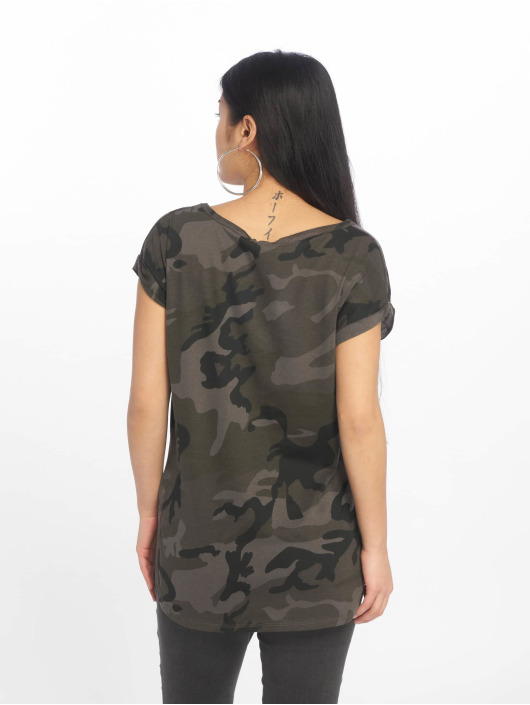 Urban Classics T-Shirt Camo Back Shaped camouflage