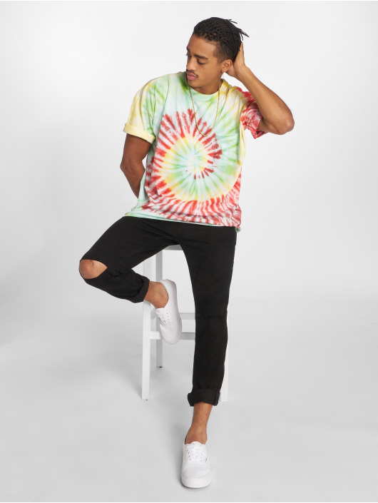Urban Classics T-Shirt Spiral Tie Dye Pocket colored