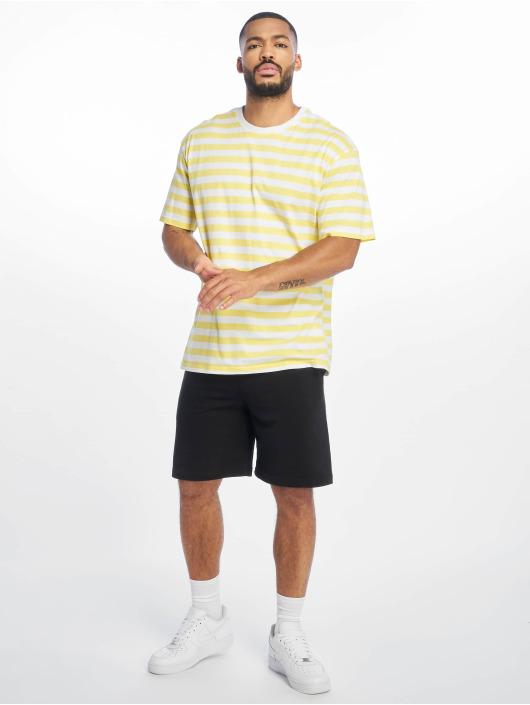 Urban Classics t-shirt Oversized Yarn Dyed Bold Stripe geel