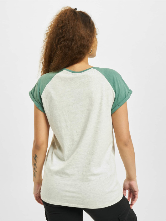 Urban Classics T-shirt Contrast Raglan grå