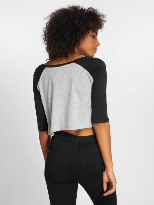 Urban Classics T-Shirt Cropped 3/4 Raglan grau