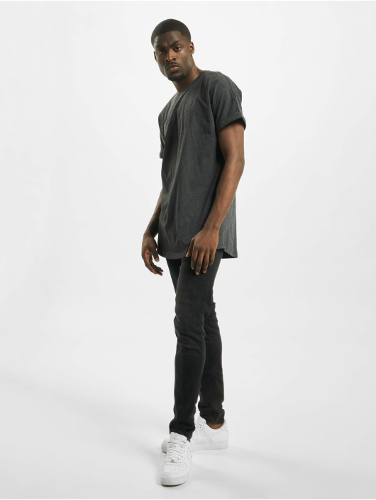 Urban Classics T-Shirt Long Shaped Turnup grau