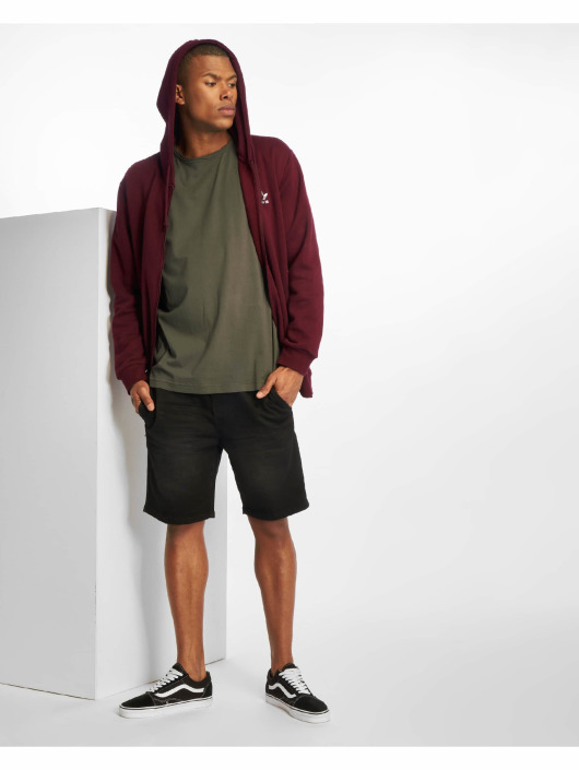 Urban Classics T-Shirt Pigment Dye High Low grau