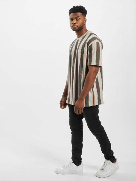 Urban Classics T-Shirt Printed Oversized Bold Stripe grau