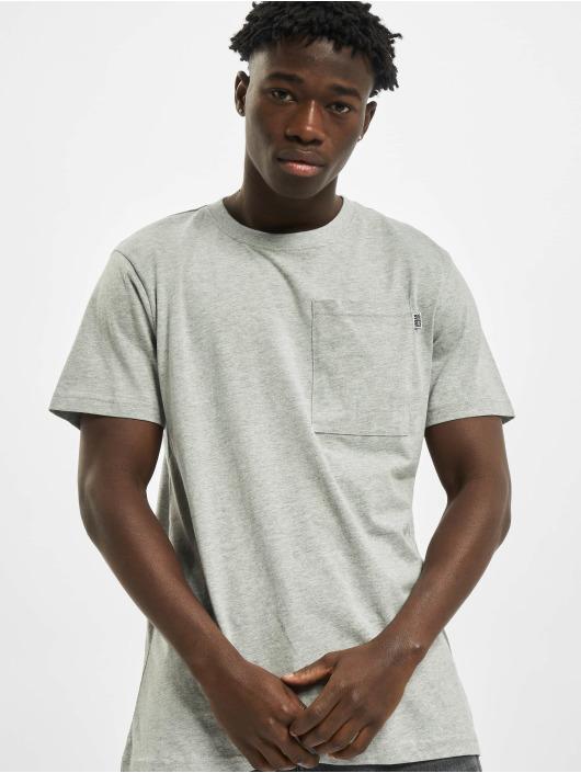 Urban Classics T-Shirt Basic Pocket grau