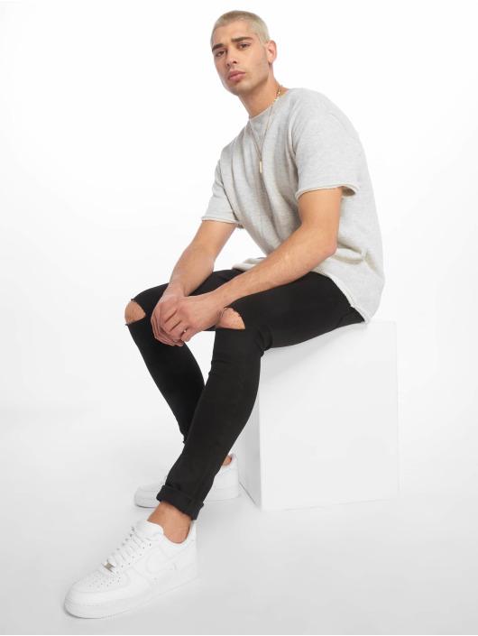 Urban Classics T-Shirt HerirngboneTerry gray