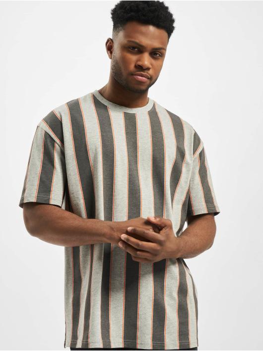 Urban Classics T-Shirt Printed Oversized Bold Stripe gray