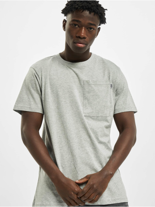 Urban Classics T-Shirt Basic Pocket gray