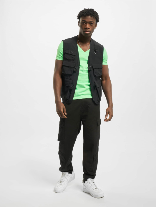 Urban Classics T-Shirt Neon V-Neck green