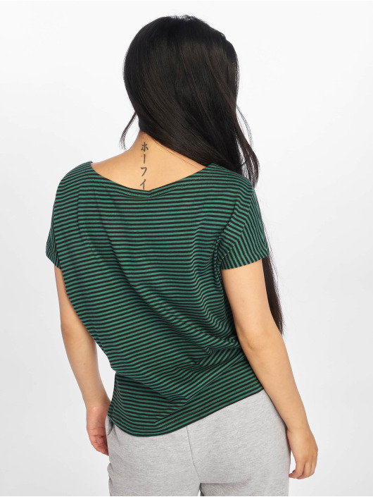 Urban Classics T-Shirt Yarn Dyed Baby Stripe green