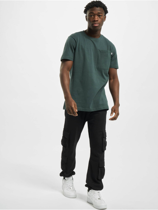 Urban Classics T-Shirt Basic Pocket green