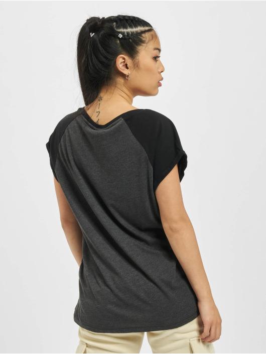 Urban Classics T-Shirt Contrast Raglan grey