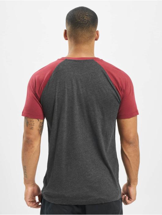 Urban Classics t-shirt Raglan Contrast grijs