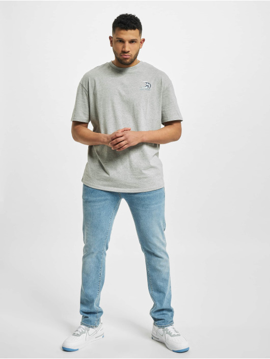 Urban Classics t-shirt Big Wave grijs