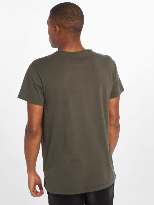 Urban Classics T-Shirt Pigment Dye High Low gris