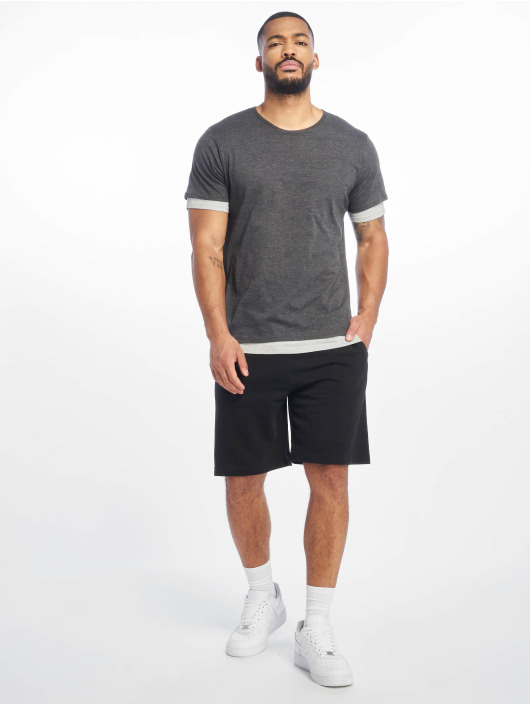 Urban Classics T-Shirt Full Double Layered gris