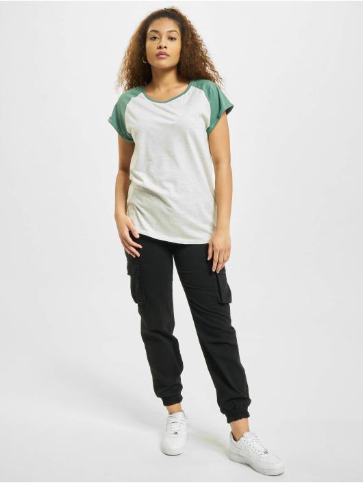 Urban Classics T-Shirt Contrast Raglan gris