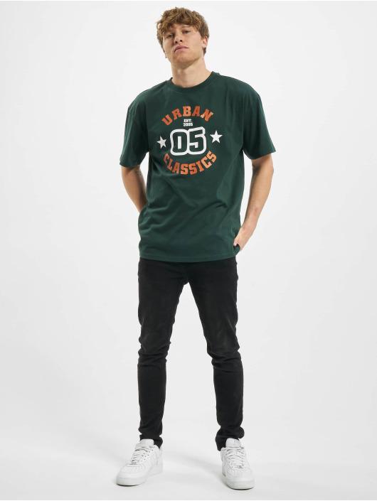 Urban Classics T-shirt College Print Tee grön