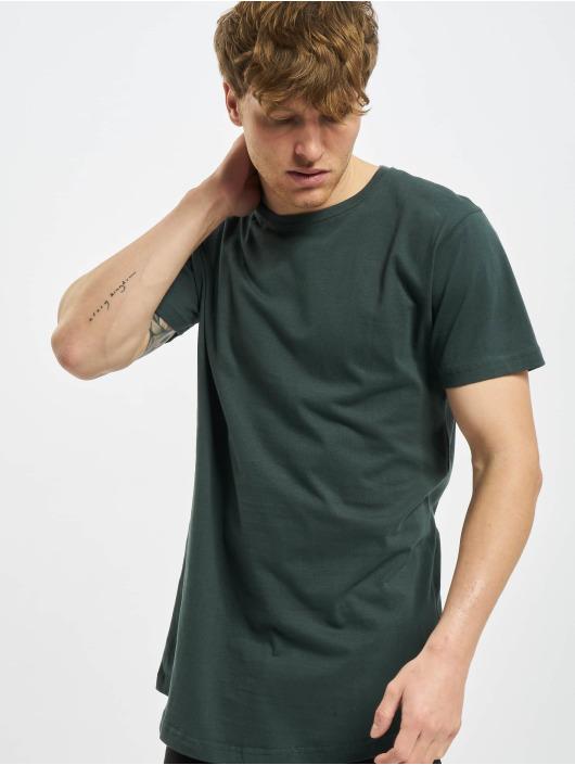 Urban Classics T-shirt Shaped Long grön